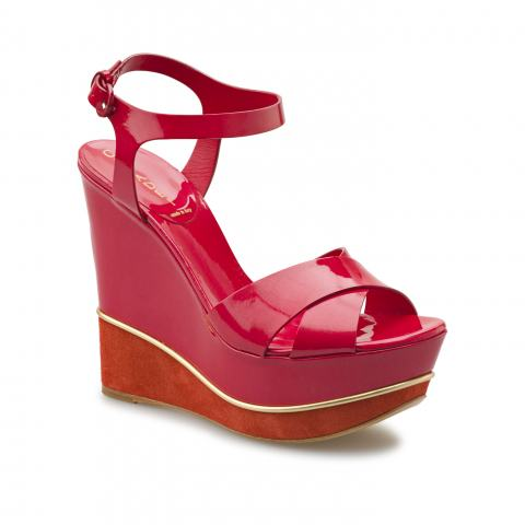 Босоножки Casadei 5026 softy metal strawberry