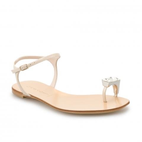Босоножки Casadei 3172 softy metal nude