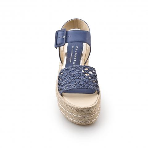 Босоножки Palomitas eugenia lg 15 leather grid blue